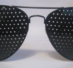 Pinhole glasses, metal/pilot model