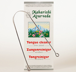Tongue Cleaner, silverplated